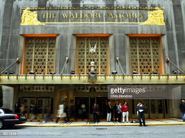 The WaldorfAstoria is seen October 17 2003 in New York City