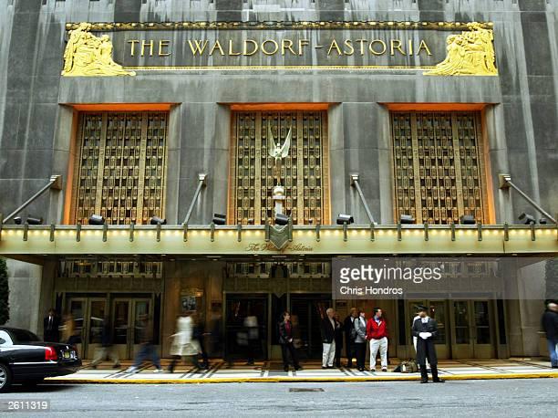The WaldorfAstoria is seen October 17 2003 in New York City