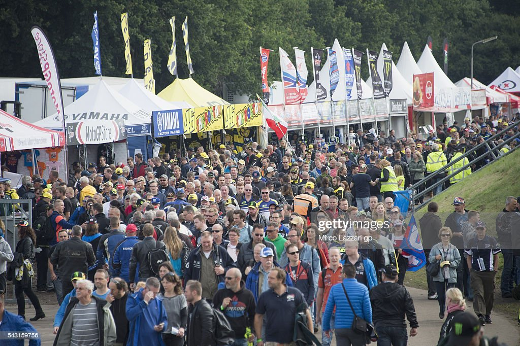 The walk in circuit before the MotoGP race during the MotoGP Netherlands - Race at on June 26, 2016 in Assen, Netherlands.