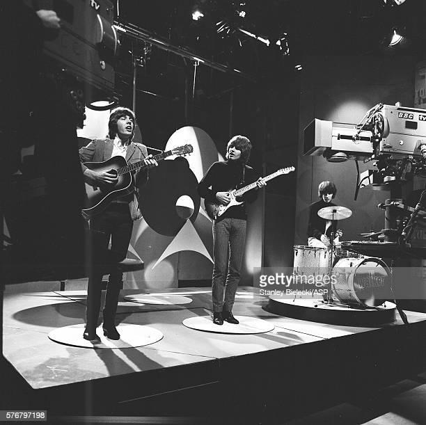 The Walker Brothers perform on Top of the Pops TV show London 1965 LR Scott Walker John Walker Gary Walker