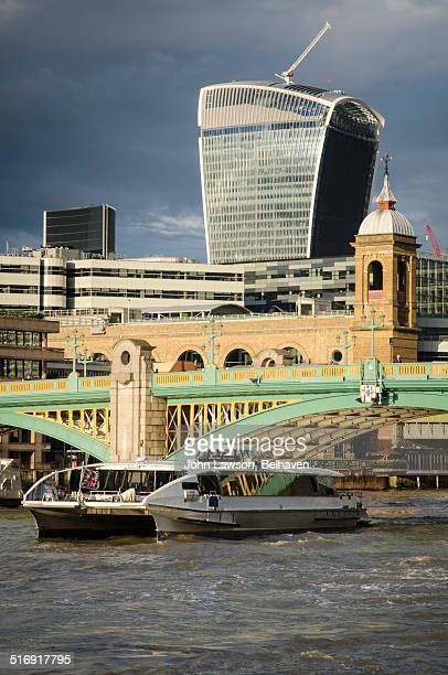 The Walkie-Talkie over Southwark Bridge, London