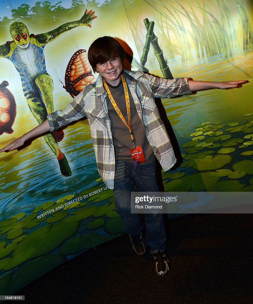 'The Walking Dead' cast member Chandler Riggs attends Cirque du Soleil TOTEM Premiere at Atlantic Station on October 26, 2012 in Atlanta, Georgia.