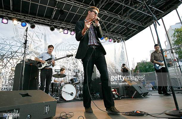 The Walkmen performs during the 2013 Northside Festival at McCarren Park on June 15 2013 in the Brooklyn borough of New York City