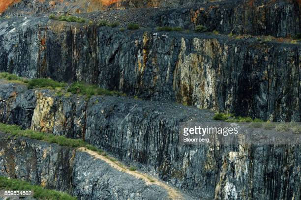 The wall of an open pit mine is seen at a Talison Lithium Ltd site a joint venture between Tianqi Lithium Corp and Albemarle Corp in Greenbushes...