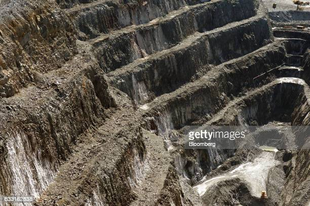 The wall of the Invincible open pit mine is seen at the St Ives Gold Mine operated by Gold Fields Ltd in Kambalda Australia on Wednesday Aug 9 2017...