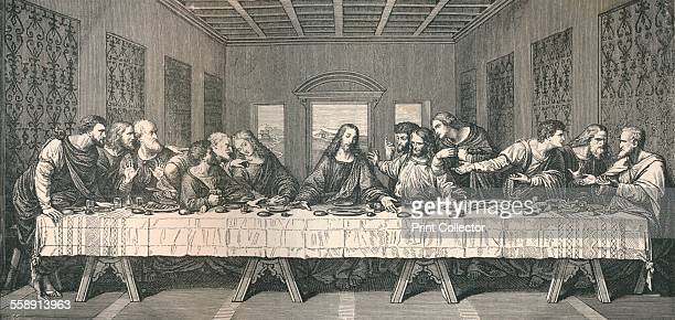 The wall painting of `The Last Supper` at Milan 1883 From The Literary Works of Leonardo Da Vinci Vol 1 by Jean Paul Richter PH DR [Sampson Low...