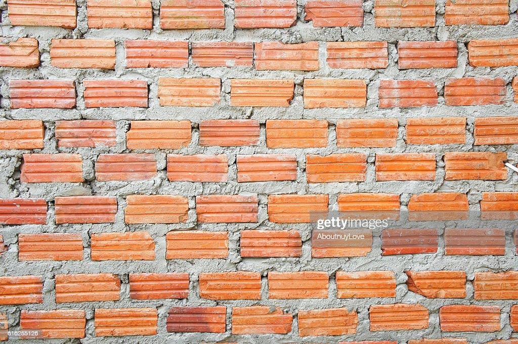 The wallbrick background , Texture wallbrick red grunge style : Foto de stock