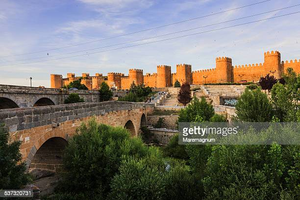 The walled town and the Romanesque bridge