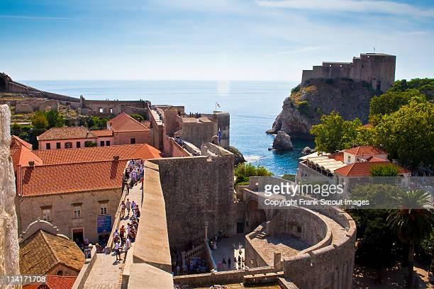 The walls and Fort Lourijenac-Dubrovnik-Croatia