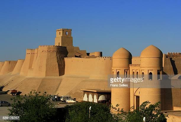The walls and gates of Khiva, Uzbekistan