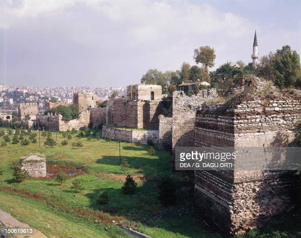 The walls of Constantinople 2nd5th centuries historic areas of Istanbul Turkey