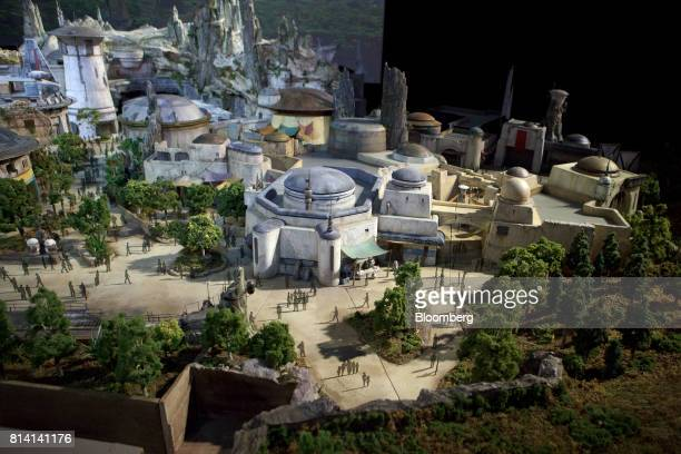 The Walt Disney Co 'Star Wars' lands 3D model is unveiled ahead of the D23 Expo in Anaheim California US on Thursday July 13 2017 Walt Disney Co gave...