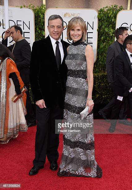 The Walt Disney Company Chairman and CEO Bob Iger and Willow Bay attend the 72nd Annual Golden Globe Awards at The Beverly Hilton Hotel on January 11...