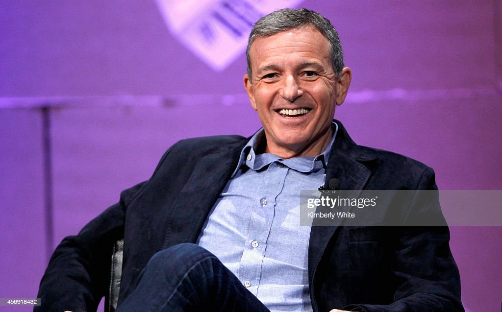 The Walt Disney Company Chairman and CEO Bob Iger speaks onstage during 'From 7 Dwarves to 140 Characters' at the Vanity Fair New Establishment...
