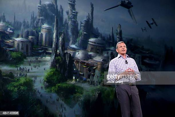 The Walt Disney Company Chairman and CEO Bob Iger took part today in 'Worlds Galaxies and Universes Live Action at The Walt Disney Studios'...