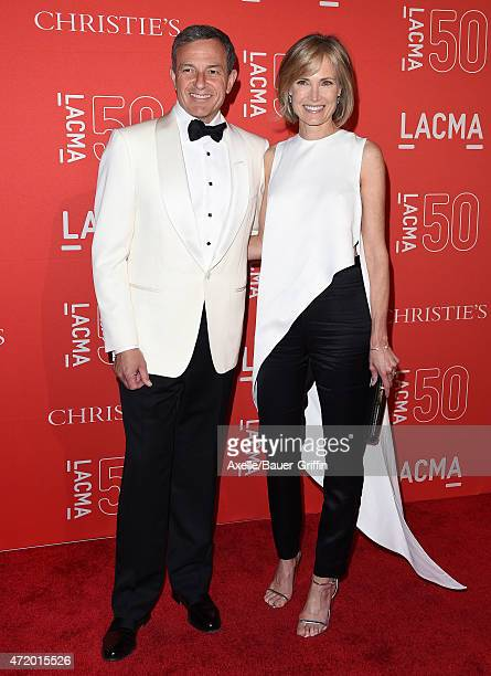 The Walt Disney Company Chairman and CEO Robert Iger and journalist Willow Bay arrive at LACMA's 50th Anniversary Gala at LACMA on April 18 2015 in...