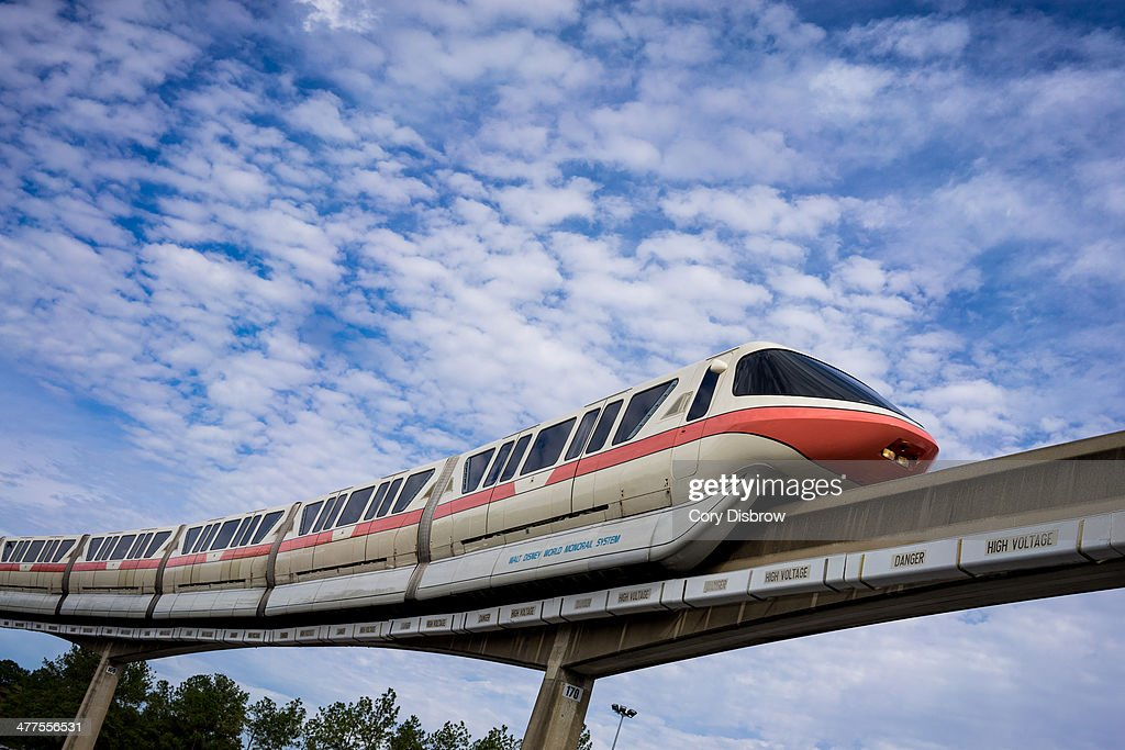 CONTENT] The Walt Disney World Monorail glides along the Epcot line Epcot Walt Disney World Florida