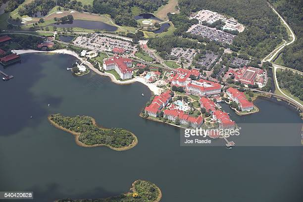 The Walt Disney World's Grand Floridian resort hotel is seen where a 2yearold boy was taken by an alligator as he waded in the waters of the Seven...