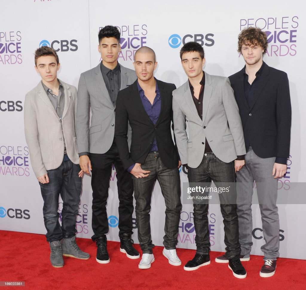 The Wanted arrives at the 2013 People's Choice Awards at Nokia Theatre L.A. Live on January 9, 2013 in Los Angeles, California.