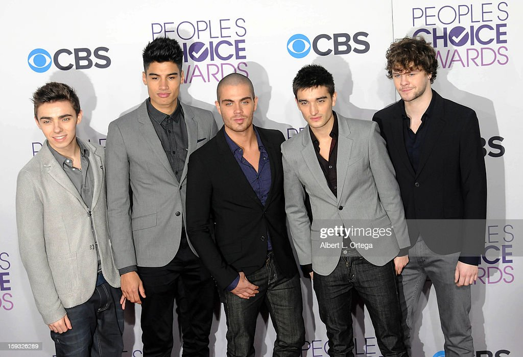 The Wanted arrives for the 34th Annual People's Choice Awards - Arrivals held at Nokia Theater at L.A. Live on January 9, 2013 in Los Angeles, California.