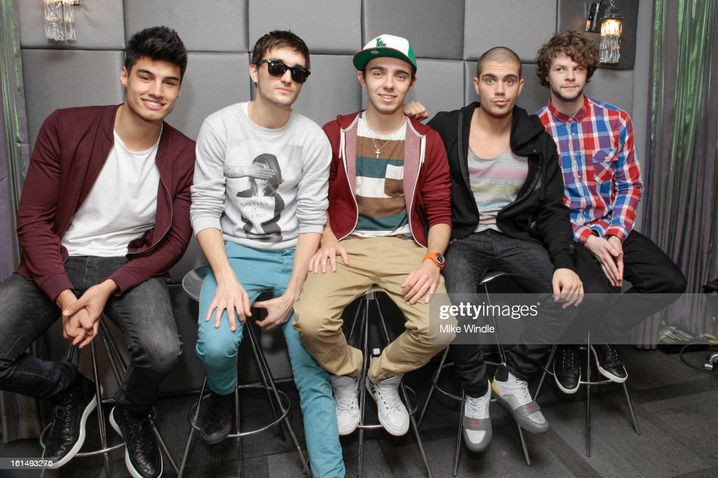 The Wanted chatting about The Ultimate iHeartRadio VIP Valentine's Day Experience sponsored by HP on February 11, 2013 in Los Angeles, California.