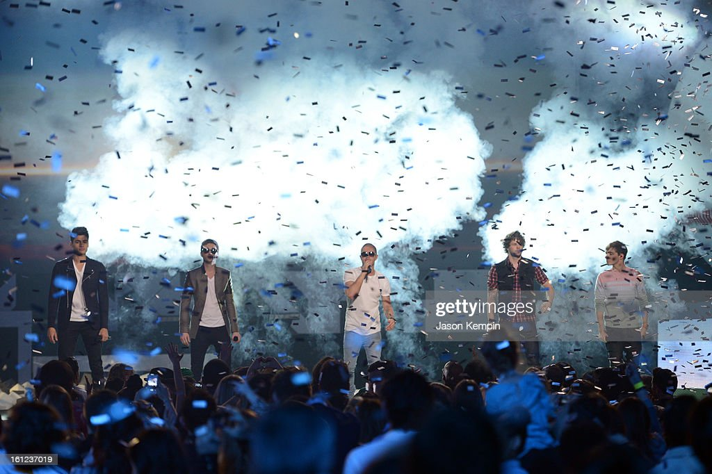 The Wanted perform onstage at the Third Annual Hall of Game Awards hosted by Cartoon Network at Barker Hangar on February 9, 2013 in Santa Monica, California. 23270_003_JK_0586.JPG
