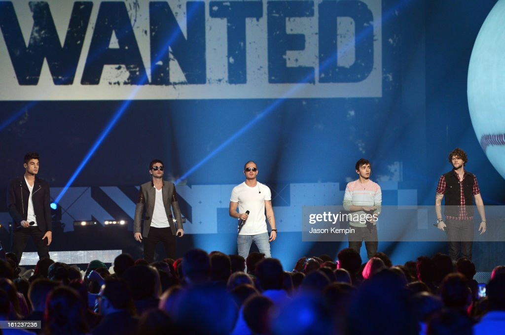 The Wanted perform onstage at the Third Annual Hall of Game Awards hosted by Cartoon Network at Barker Hangar on February 9, 2013 in Santa Monica, California. 23270_003_JK_0522.JPG