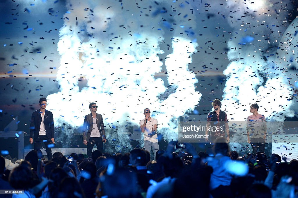 The Wanted perform onstage at the Third Annual Hall of Game Awards hosted by Cartoon Network at Barker Hangar on February 9, 2013 in Santa Monica, California. 23270_003_JK_0580.JPG