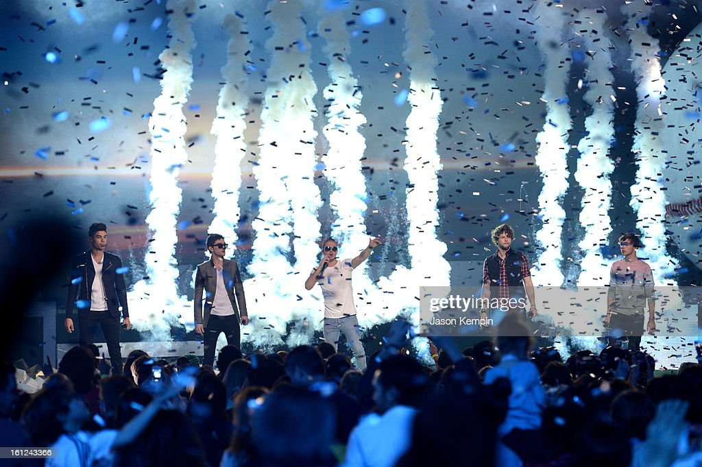 The Wanted perform onstage at the Third Annual Hall of Game Awards hosted by Cartoon Network at Barker Hangar on February 9, 2013 in Santa Monica, California. 23270_003_JK_0575.JPG