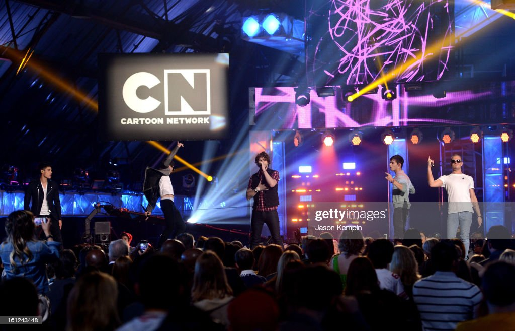 The Wanted perform onstage at the Third Annual Hall of Game Awards hosted by Cartoon Network at Barker Hangar on February 9, 2013 in Santa Monica, California. 23270_003_JK_0546.JPG