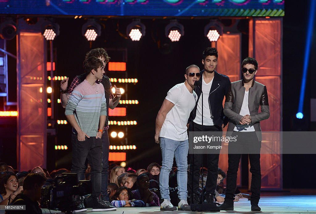 The Wanted speak onstage at the Third Annual Hall of Game Awards hosted by Cartoon Network at Barker Hangar on February 9, 2013 in Santa Monica, California. 23270_003_JK_0226.JPG