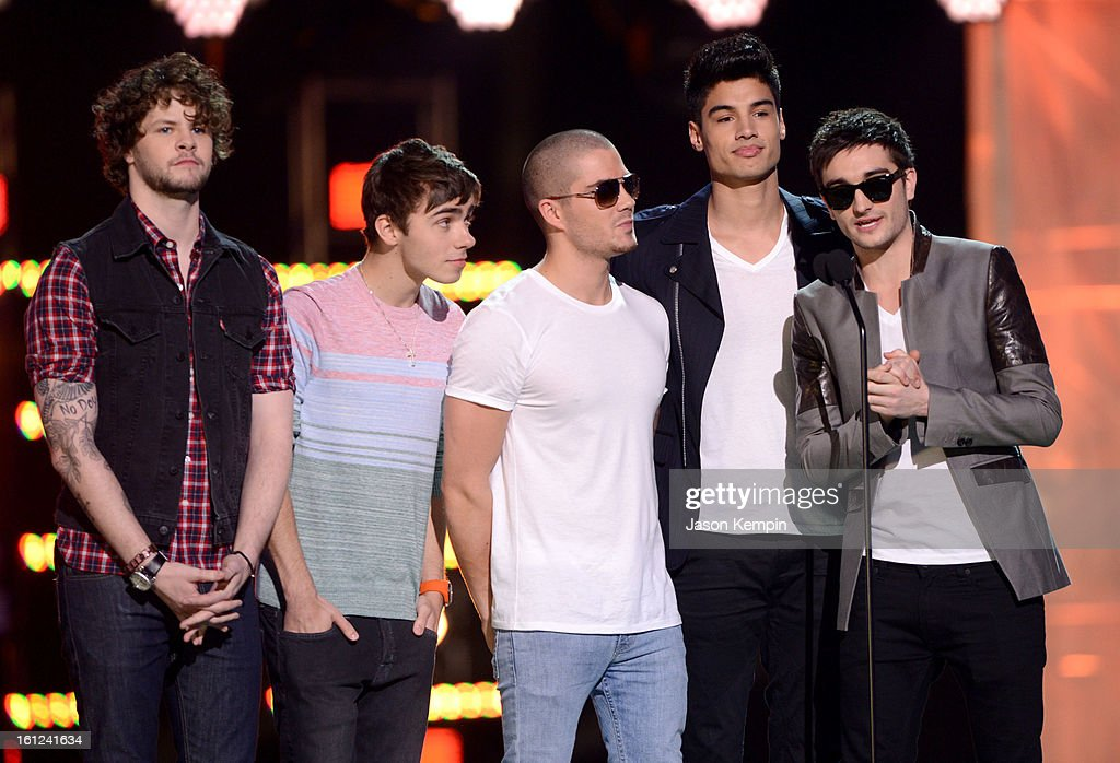 The Wanted speak onstage at the Third Annual Hall of Game Awards hosted by Cartoon Network at Barker Hangar on February 9, 2013 in Santa Monica, California. 23270_003_JK_0164.JPG