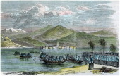 'The war Austrians crossing the Lago Maggiore' Italy c1875 A scene from the Wars of Italian Independence
