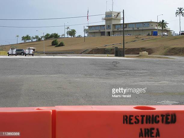 The war crimes tribunal building at US Navy base Guantanamo Bay Cuba on July 13 2010 a day after Torontoborn captive Omar Khadr fired his legal staff