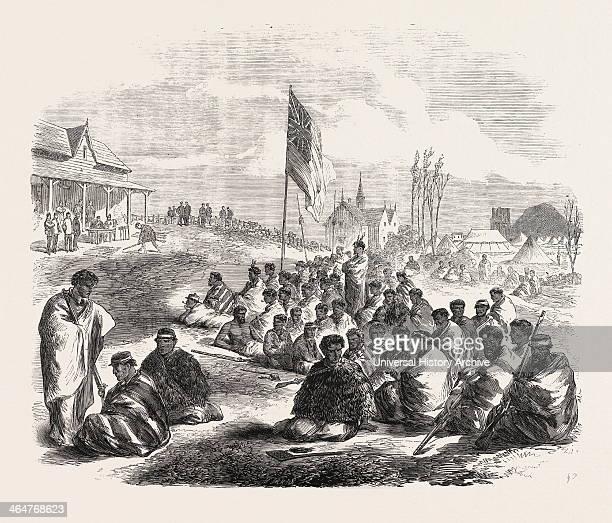 Surrender Of The Tauranga Natives At The Te Papa Station 1864