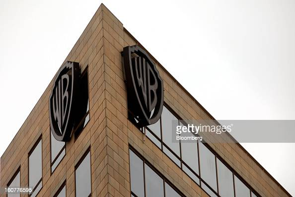 The Warner Bros logo is displayed on a building at Warner Bros Studios in Burbank California US on Tuesday Feb 5 2013 Time Warner Inc the parent...