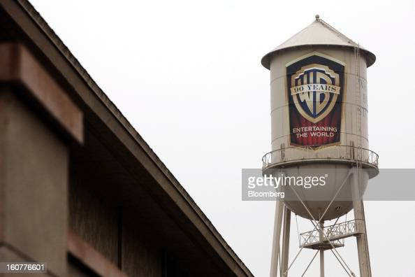 The Warner Bros logo is displayed on a water tower at Warner Bors Studios in Burbank California US on on Tuesday Feb 5 2013 Time Warner Inc the...
