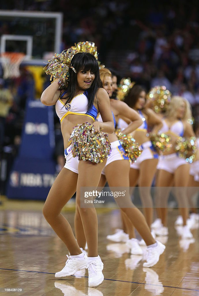 The Warrior Girls, the Golden State Warriors cheerleaders, perform during their game against the Denver Nuggets at Oracle Arena on November 29, 2012 in Oakland, California.