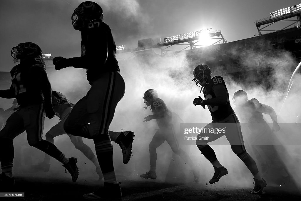 The Washington Redskins are introduced before playing the New Orleans Saints at FedExField on November 15 2015 in Landover Maryland The Washington...