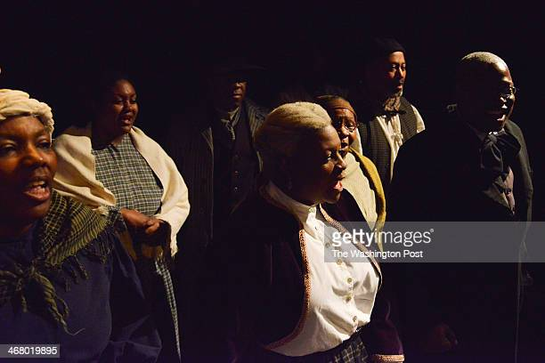 The Washington Revels DC's Jubilee Voices sing in honor of the late Frederick Douglass as the National Park Service and the Frederick Douglass...