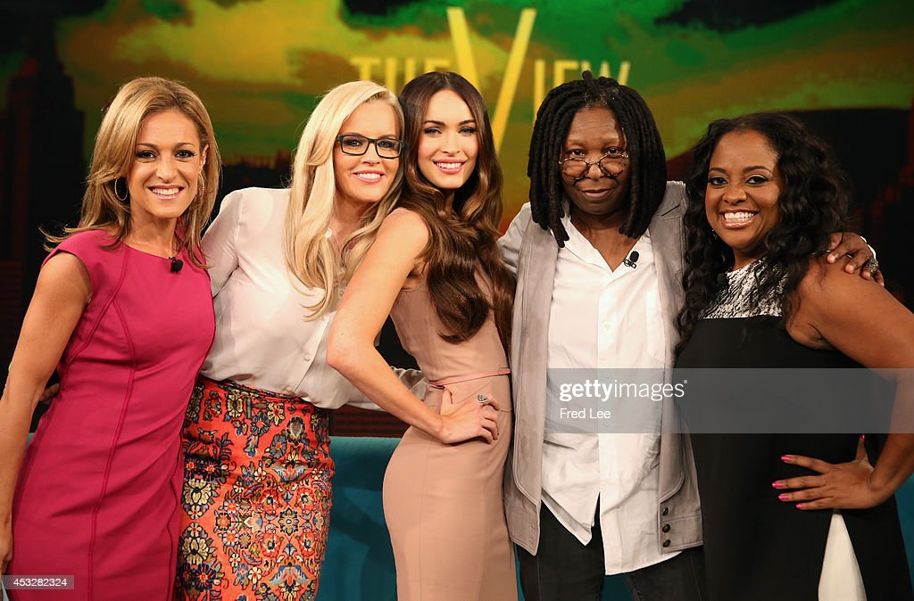 THE VIEW -- The Washington Times senior editor Emily Miller guest co-hosts; <a gi-track='captionPersonalityLinkClicked' href=/galleries/search?phrase=Whoopi+Goldberg&family=editorial&specificpeople=202463 ng-click='$event.stopPropagation()'>Whoopi Goldberg</a>s 'Teenage Mutant Ninja Turtles' costar <a gi-track='captionPersonalityLinkClicked' href=/galleries/search?phrase=Megan+Fox&family=editorial&specificpeople=2239934 ng-click='$event.stopPropagation()'>Megan Fox</a>; Derek Hough (ABC's 'Dancing with the Stars' ; author, Breakthrough Moments). appear today, Tuesday, August 5, 2014 on ABC's 'The View.' 'The View' airs Monday-Friday (11:00 am-12:00 pm, ET) on the ABC Television Network.