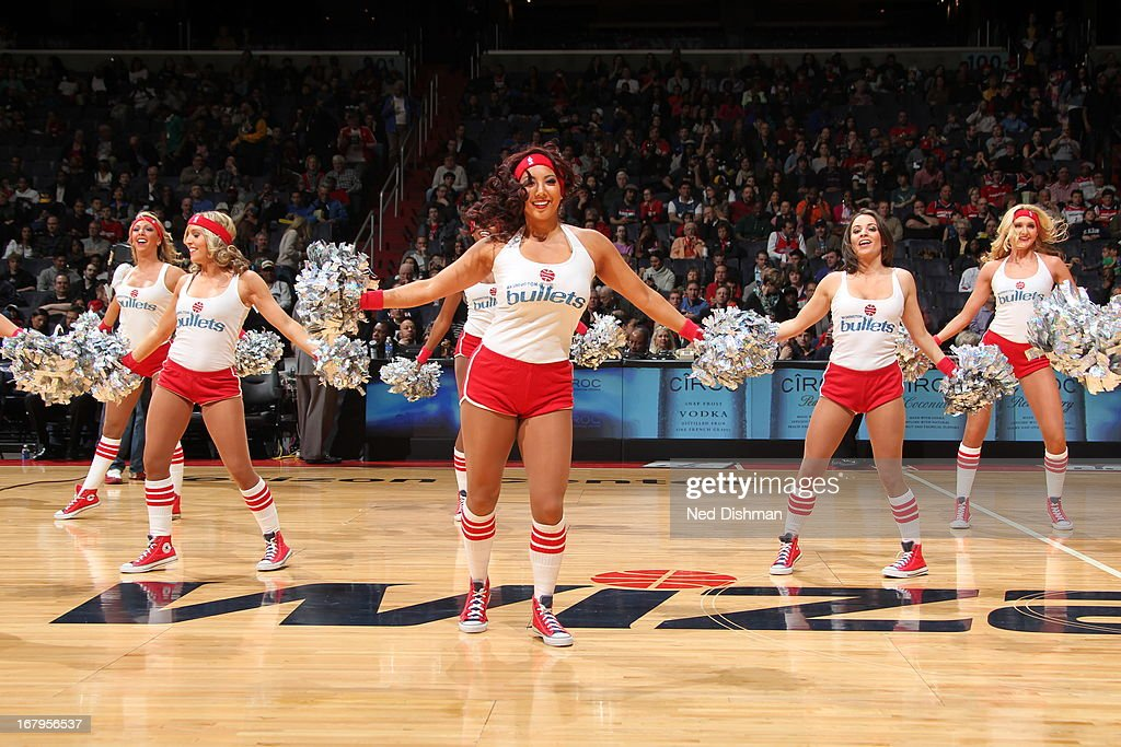 The Washington Wizards dance team performs during the game against the Indiana Pacers at the Verizon Center on April 6, 2013 in Washington, DC.