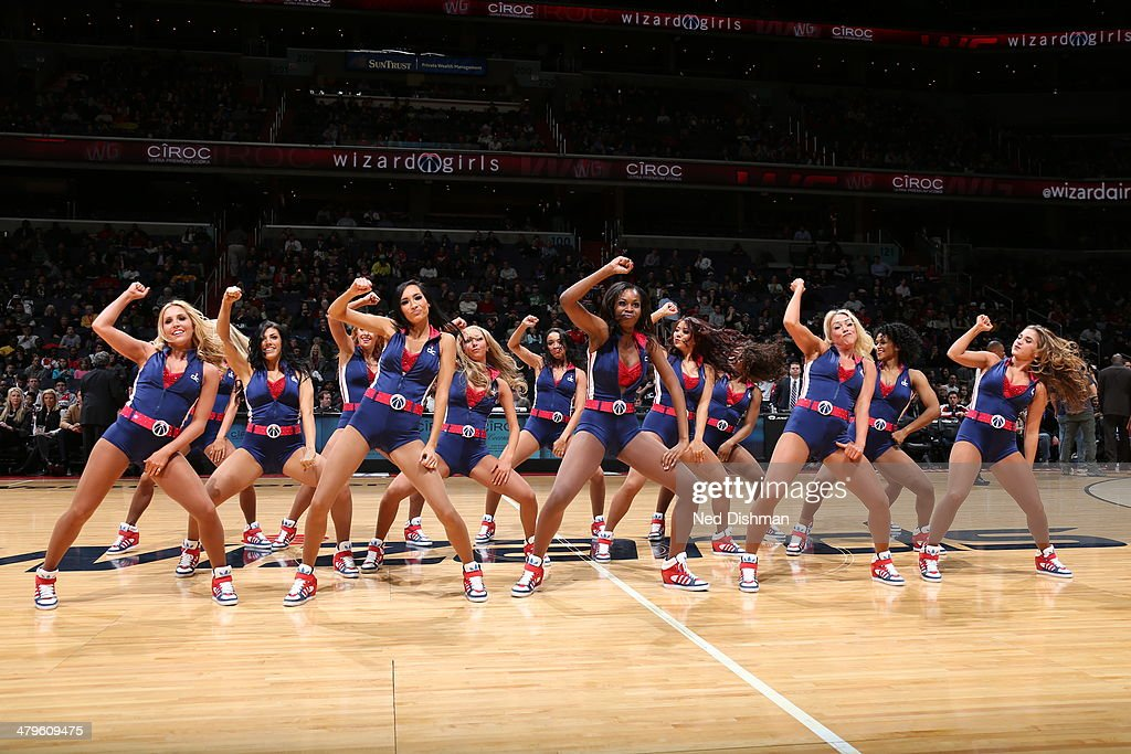 The Washington Wizards dance team performs during the game against the Memphis Grizzlies at the Verizon Center on March 3, 2014 in Washington, DC.