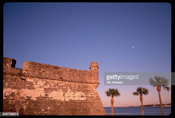 The watchtowers of Castillo de San Marcos National Monument continue to look out over the Atlantic Ocean more than 200 years after its construction...