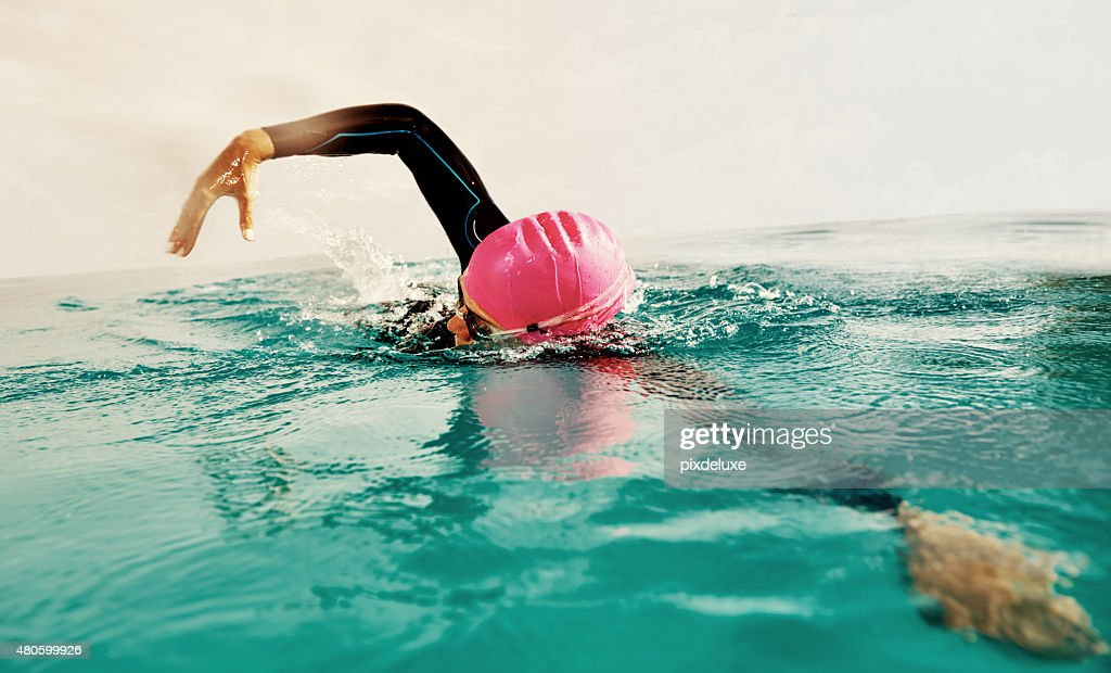 The water is where I feel free : Stock Photo