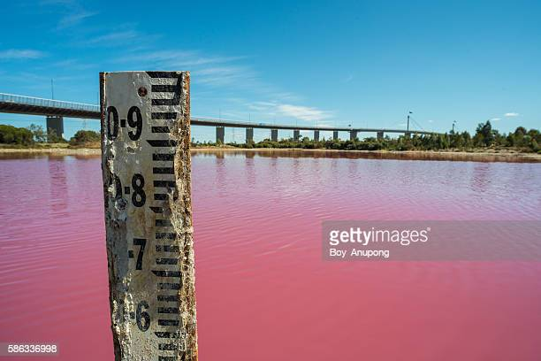 The water meter at Pink salt lake, Melbourne.