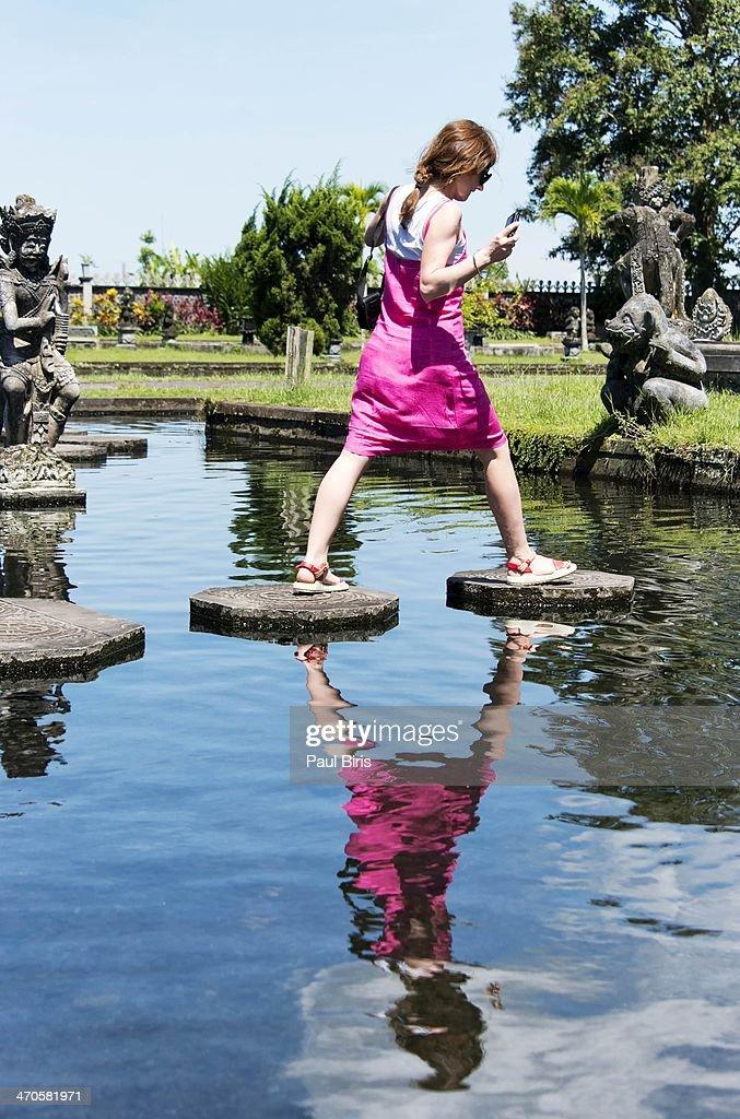 The Water Palace of Tirtagangga : Stock Photo
