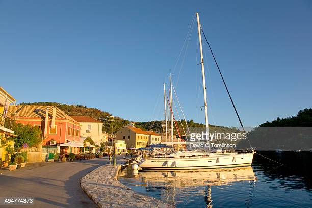 The waterfront at sunrise, Gaios, Paxos, Greece