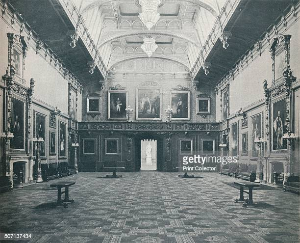 The Waterloo Chamber Windsor Castle' c1899 The Waterloo chamber formerly the Grand Dining room decorated in the Elizabethan style with wooden carving...