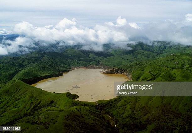 The waters of Lake Nyos near Wum Cameroon have turned a murky brown following a deadly release of toxic gas In August of 1986 the lake which is...